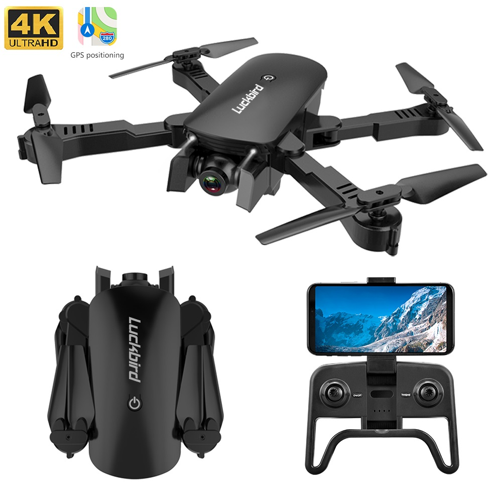 2020 New R8 Folding Drone Ultra HD 4K 5G Remote Control Wi-Fi FPV Drone Follow Me RC Helicopter Quadcopter Children Toy image