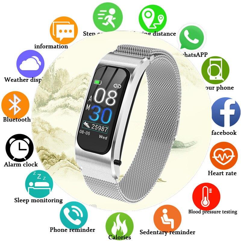 Pour redmi xiaomi Android Bracelet Bracelet fréquence cardiaque pression artérielle bande intelligente Fitness Tracker Bluetooth montre intelligente hommes femmes