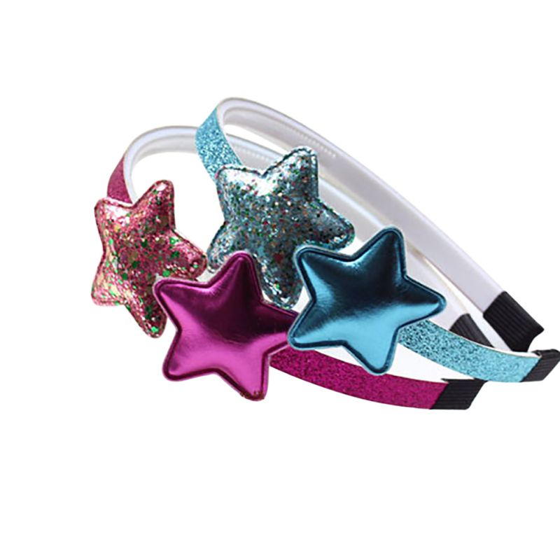 Kids Girls Hair Accessories Baby Girls Love Star Headwear Princess Solid Color Headbands Hairbands