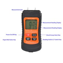 Humidity-Tester Hygrometer Timber-Damp-Detector Paper Wood Wall Digital Two-Pins MT-02