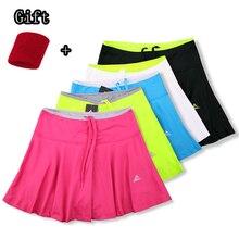 Теннисные Шорты для девочек с защитными шортами+ карман для тенниса, быстросохнущая Женская юбка для бадминтона, женские спортивные юбки для йоги и бега