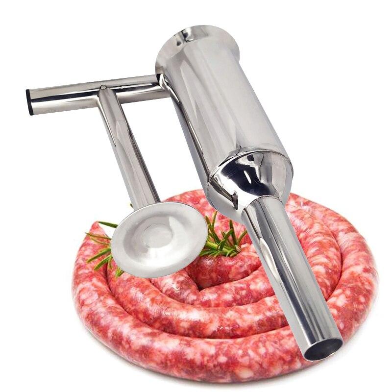 Домашняя колбасная шприц из нержавеющей стали, машина для наполнения колбас, шприц, наполнитель для мяса, колбасная машина Наполнители      АлиЭкспресс