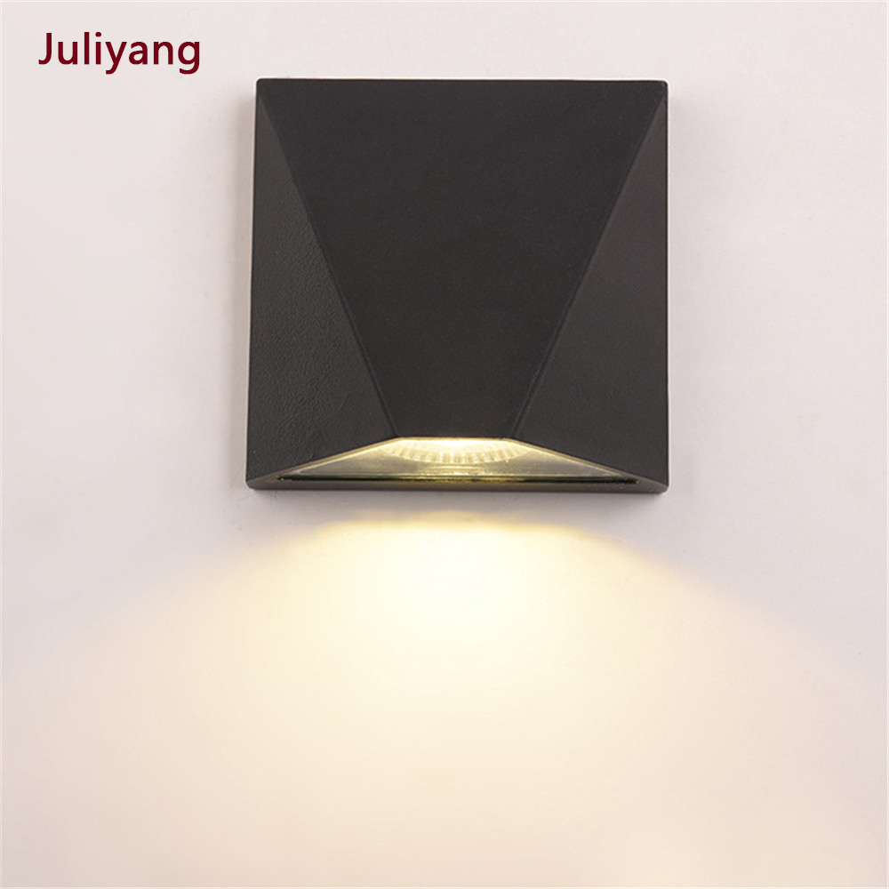 Modern Minimalist LED Wall Lamp Indoor Outdoor Waterproof Wall Lamp Courtyard Aisle Porch Balcony Light Fixture IP65 AC85-265V