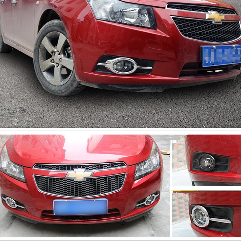 New Car Sticker Front Fog Lamp Trim Light Covers Case For Ford Chevrolet Cruze 2009-2016 Styling Accessories