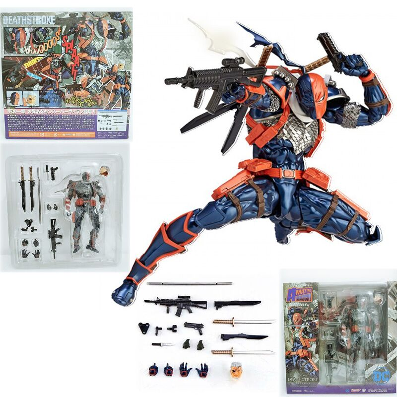 Revoltech Series NO.011 Anime Batman Deathstroke Action Figure Model Toys Doll For Gift