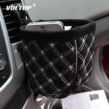 Soporte Universal para vaso de coche, organizador para botella para agua y bebidas, soporte de montaje para aire acondicionado, bolsa de almacenamiento con Clip de bolsillo
