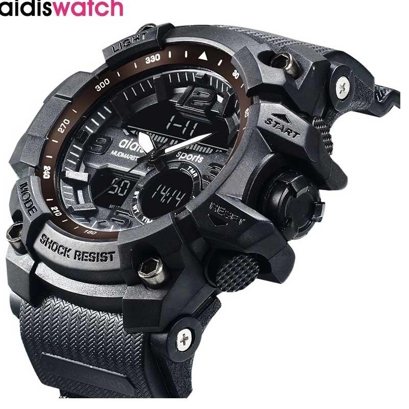 Nouvelle marque Addies mode montre hommes G Style étanche sport militaire Watche choc luxe analogique numérique sport montres hommes