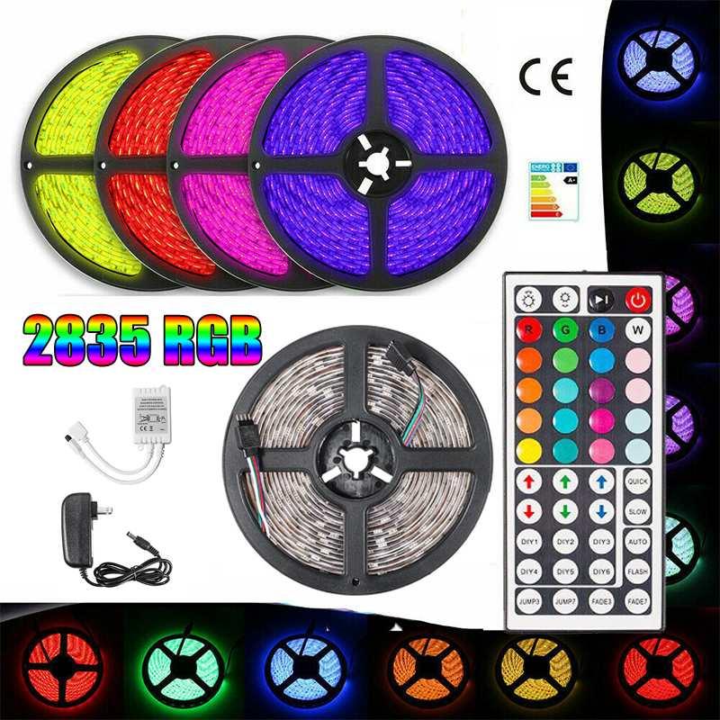 Waterproof LED Strip Lamp 2835SMD DC12V Flexible LED Light Tape Ribbon 5M HDTV TV Desktop Screen Backlight Bias Lighting