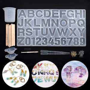 Jewelry Earring Necklace Making-Tools-Set Handmade-Accessories Alphabet Silicone Mold