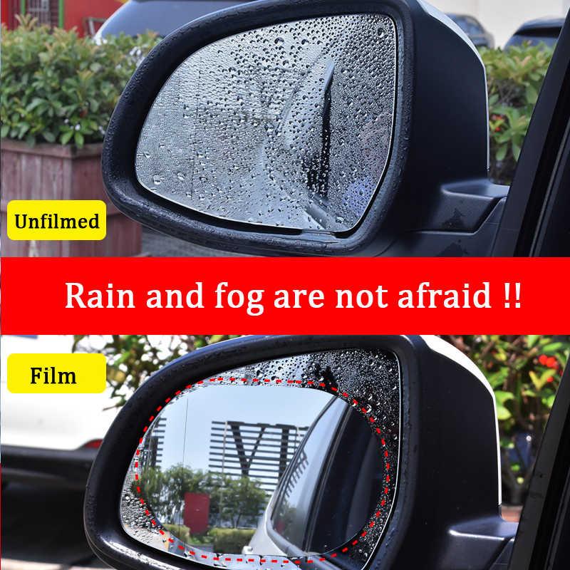 2 pezzi Antipioggia Auto Retrovisore Specchio Autoadesivo della Pellicola Anti-fog Pellicola Protettiva Shield Pioggia di Ricambio adesivi su tutte le auto