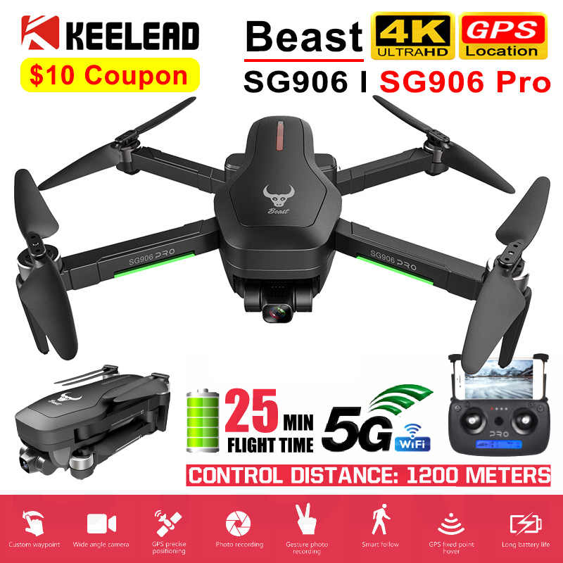 Drone SG906 / SG906 Pro dengan GPS 4K 5G Wifi 2-Axis Gimbal Dual Kamera Profesional ESC 50X Zoom Brushless Quadcopter RC Drone