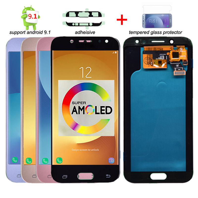 Super Amoled LCD Para Samsung Galaxy J5 2017 J530 J530F LCD Display Touch Montagem Digitador Da Tela de lcd para J5 Pro 2017 J5 Duos