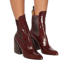 цена на Europe style women's pointed toe ankle boots  2019 autumn/winter Fashion women high heeled Chelsea Boots EU35-40 size BY718