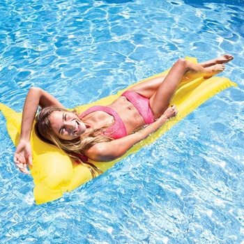 New Outoor Inflatable Floating Row For Swimming Air Bed Pool Mattress Portable Inflatable Beach Water Hommock Lounger 183*69cm Activity & Gear