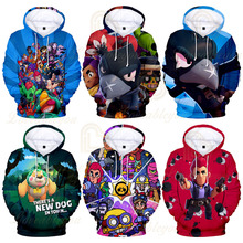 Kids Hoodies 3D Shooting Game Printed Hoodie Boys Girls Harajuku Cartoon Jacket Tops Men Clothes Pullover