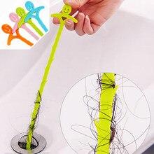 1pc cozinha pia de limpeza gancho esgoto dragagem primavera tubo de cabelo ferramenta de dragagem remoção pia ferramenta de limpeza com 5cm aleatório