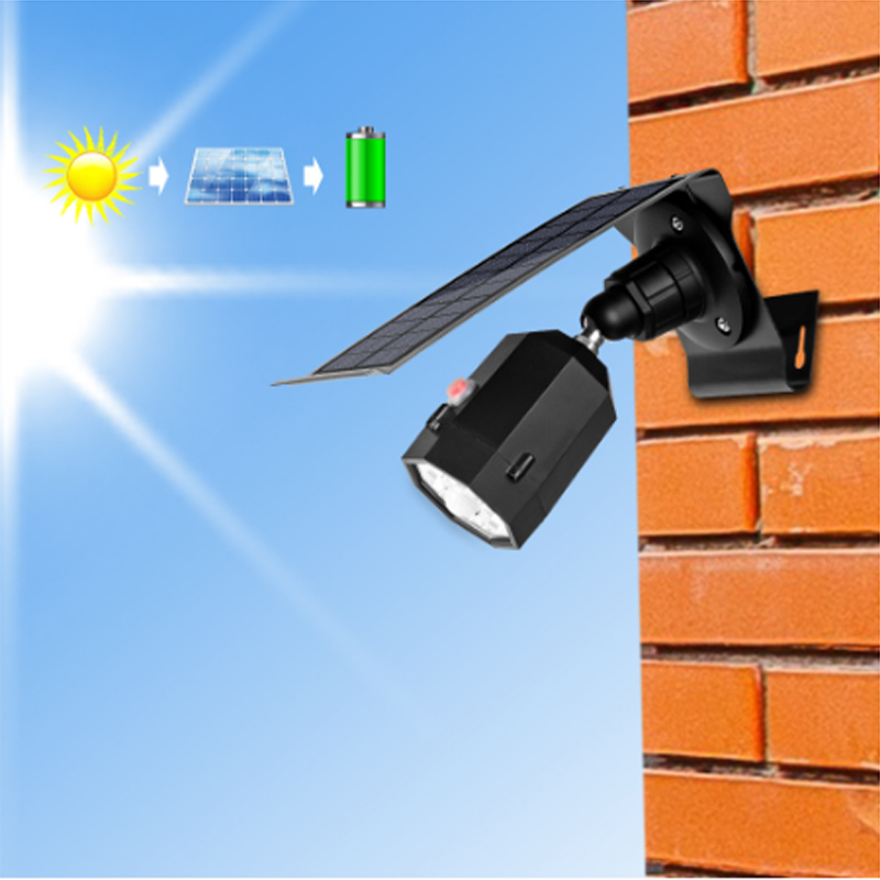 10 LED Solar Light Adjustable Lighting Angle 500lm Waterproof Lamp Projector With Three Modes For Outdoor Wall Patio