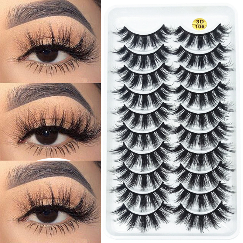 Eyelash Extension 3D Mink Lashes Natural False Eyelashes Soft Dramatic Wispy Fluffy Fake Eye Lashes Makeup Silk Eyelashes Tools
