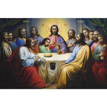 Jesus a última ceia cartaz de tecido de seda impressão cartaz de tecido de impressão de pano de parede cartaz de cetim personalizado