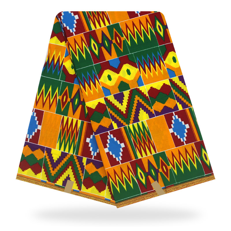6Yard Ankara Fabric African Wax 100% Cotton Fabric Firework Printed Fabric For Party Dress Making Diy Sewing Crafts