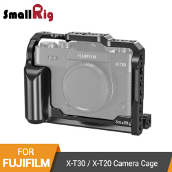 SmallRig X-T30 Cage for Fujifilm X-T30 and X-T20 DSLR Camera Cage With Integrated Side Handle+Arri Locating Holes- 2356