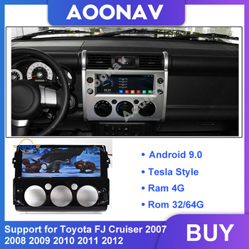 Car Autoradio HD Touch Screen GPS Navigation 2Din Android For Toyota Land Cruiser FJ 2007-2012 Multimedia Player DSP Unit Stereo image