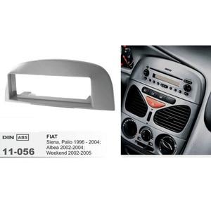 Image 4 - 11 056 Enkele Din Auto Radio Fascia Voor Fiat Siena/Palio 1996 2004/Albea/Weekend stereo Fascia Dash Trim Installatie Frame Kit