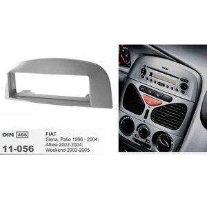 Image 4 - 11 056 pojedynczy din samochodów ramka wykończeniowa radia dla FIAT Siena/Palio 1996 2004/Albea/Weekend Stereo konsoli deska rozdzielcza do montażu zestaw ze szkieletem