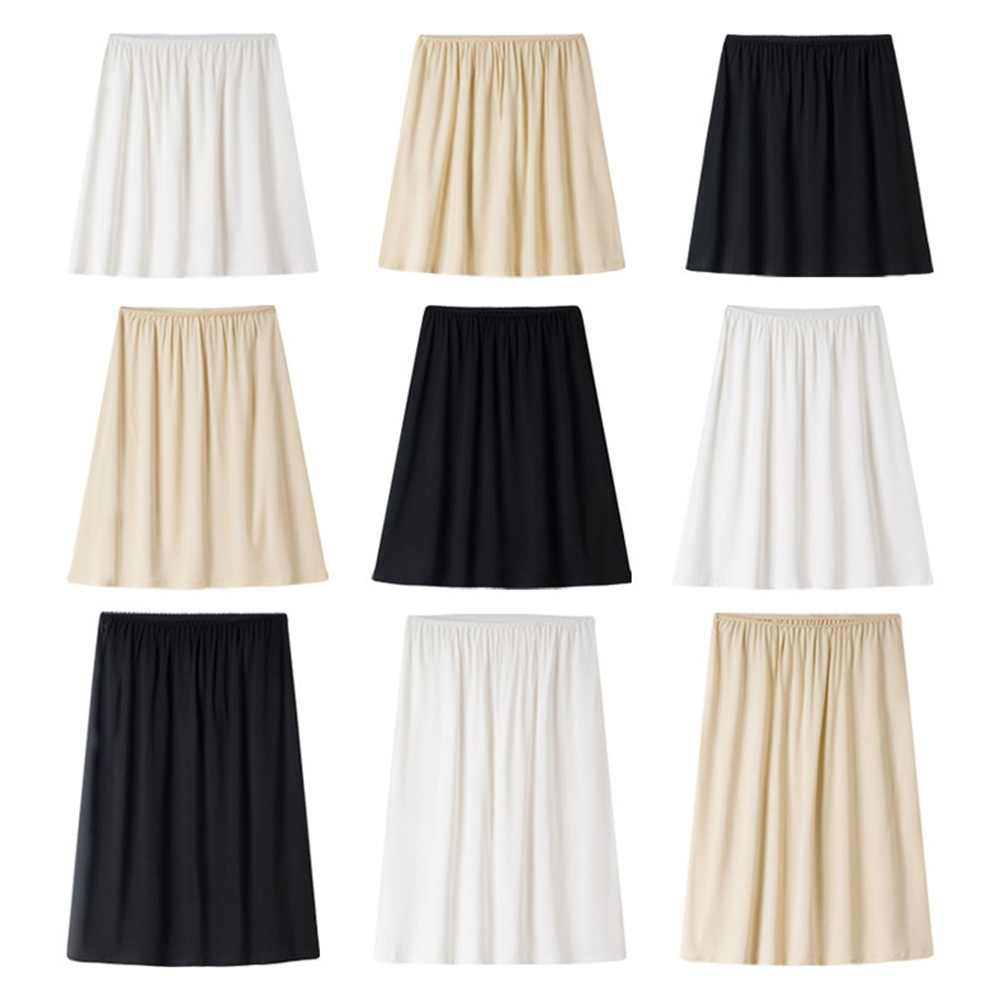 Women Lady Modal Half Slip Safety Skirt Petticoat Underskirt 40cm-60cm Long Underdress Comfortable Black White Nude 903-B636
