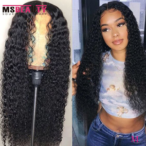 """Lace Front Wigs 13X4 Curly Lace front Human Hair Wigs for Black Women Brazilian Remy Hair Wig 150% Middle Ratio 10""""-30"""" Inch(China)"""