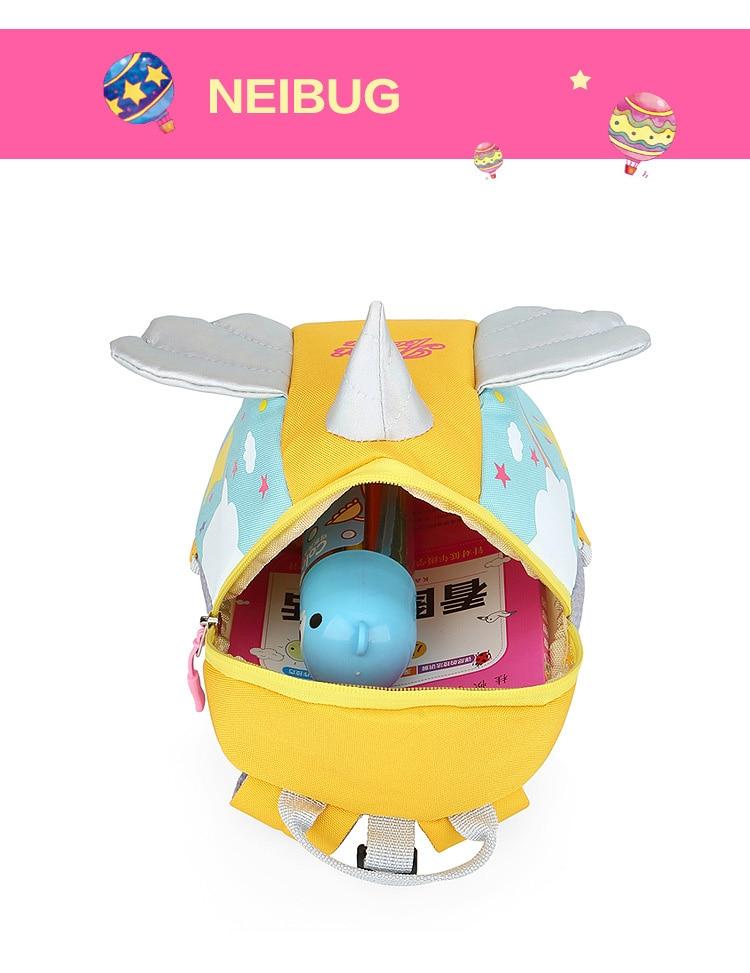 Nylon Fabric Panelled Preschool Backpack Baby Girls Mini Unicorn School Bags for Toddler Kids Cute Cartoon Casual Back Pack Blue (17)