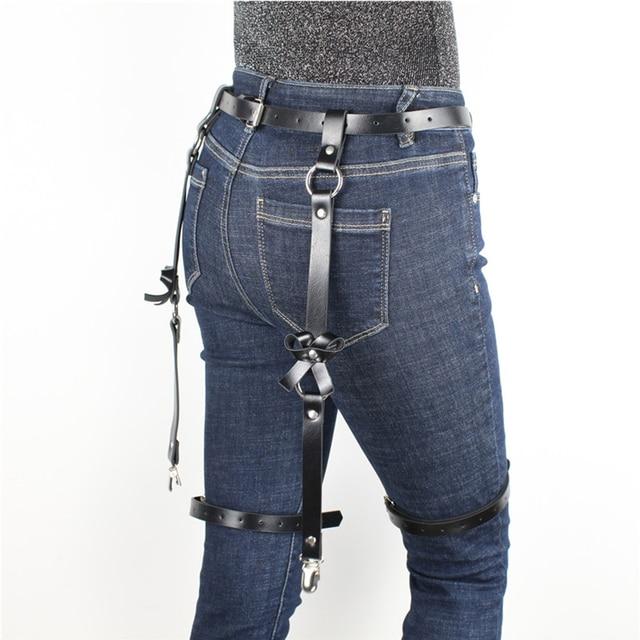 Leather Harness Garter Belt  5