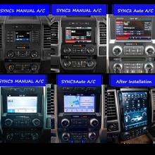 Tesla Android 2 Din стерео приемник автомобильное радио для Ford F150 F250 F350 2015-2021 аудио мультимедиа mp3-плеер головное устройство GPS навигация