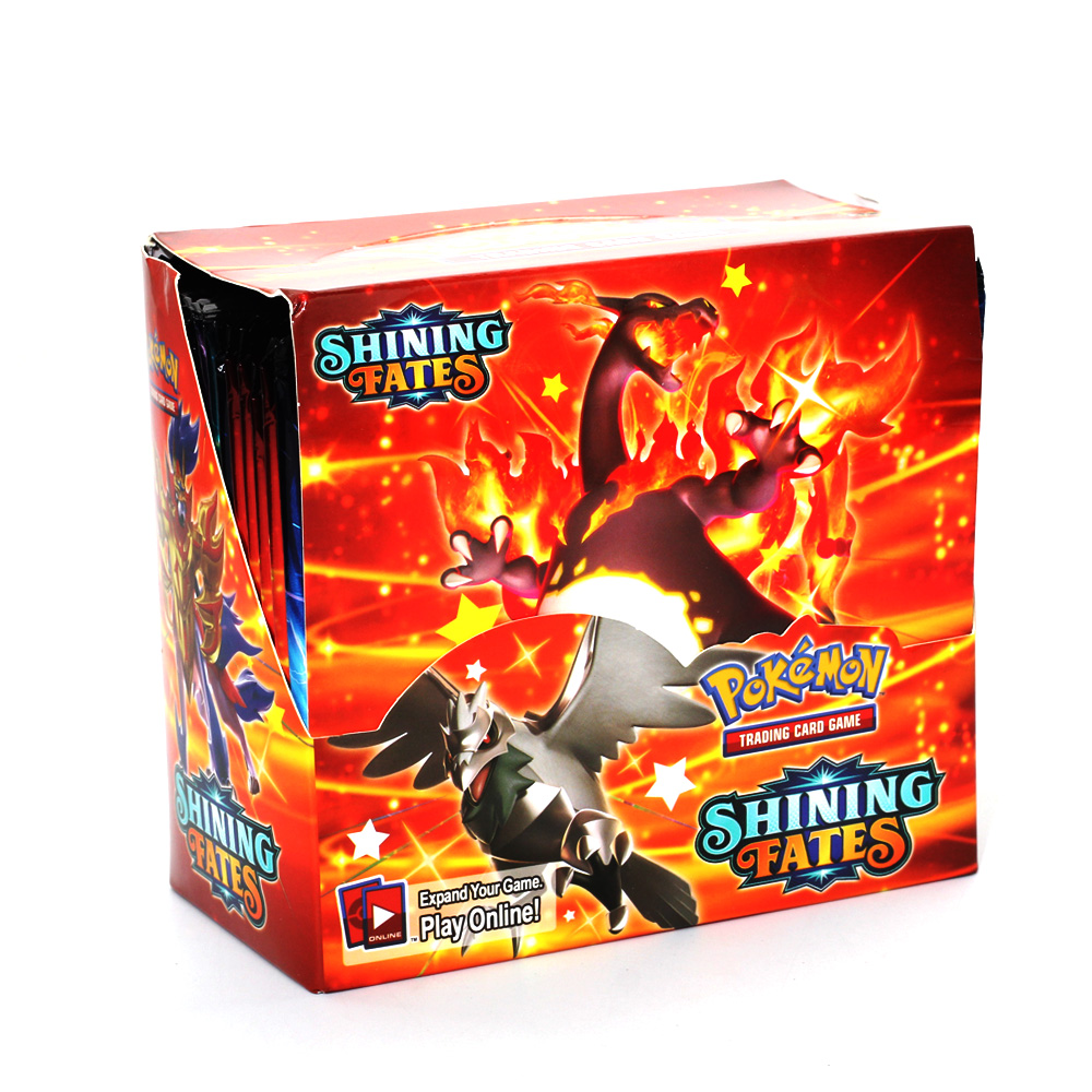 2021 Newest Pokemon Cards 360Pcs English Pokemon TCG: Shining Fates Booster Box Trading Card Game Collection Toys 2021 Newest P