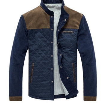 Panelled Mens Designer Jackets Fashion Single Breasted Mens Outwears Casual Stand Collar Males Clothing