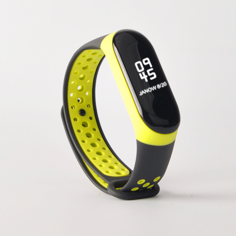 Купить с кэшбэком For Mi Band 3 4 strap sport Silicone watch wrist Bracelet miband strap accessories bracelet smart for Xiaomi mi band 3 4 strap