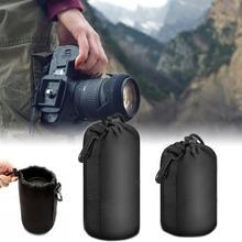 M L obiektyw aparatu SLR torby do przechowywania torba nurkowanie wodoodporne neopren owe miękkie bezpieczeństwa środowiska czarny 2020 nowy tanie tanio CN (pochodzenie) Salon Ekologiczne Tkaniny Trójwymiarowy typu Owalne Podróży M 95mm x 140mm L 100mm x 180mm SLR camera lens pouch