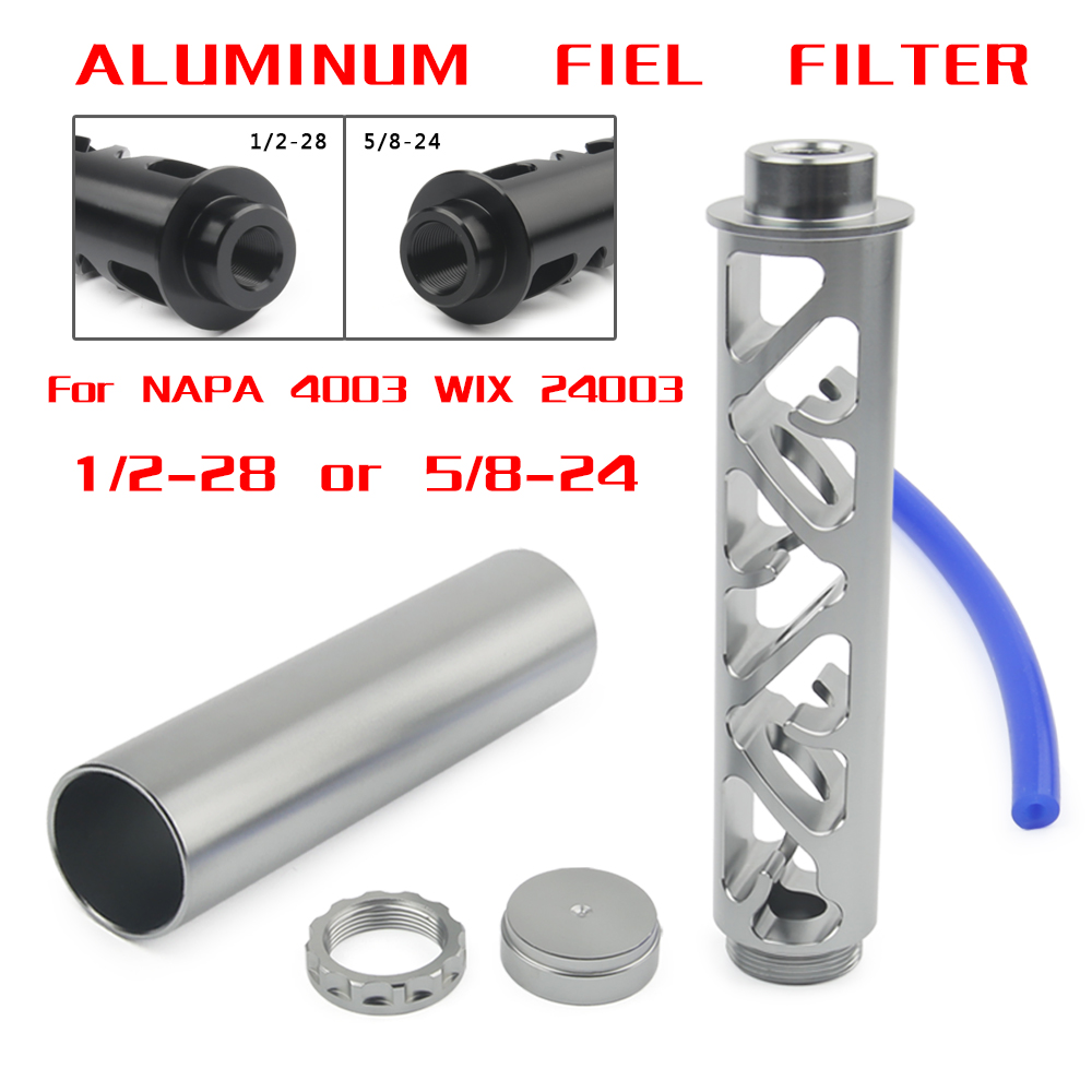 NEW Spiral 1/2-28 5/8-24 Single Core Car Fuel Filter For NAPA 4003 WIX 24003 Fuel Trap Solvent Filters 6