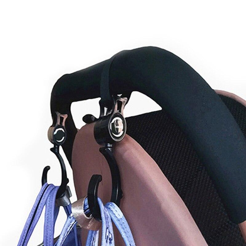 2pcs/ Baby Hanger Baby Bag Stroller Hooks Pram Rotate 360 Degree Baby Car Seat Accessories Stroller Organizer