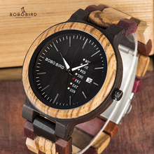 BOBO BIRD Wood Watch Men relogio masculino Timepieces Date a