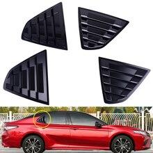 DWCX Kunststoff Schwarz Auto Hinten Fenster Jalousie Sonnenschutz Vent Abdeckung Fit für Toyota Camry Limousine 2018 2019
