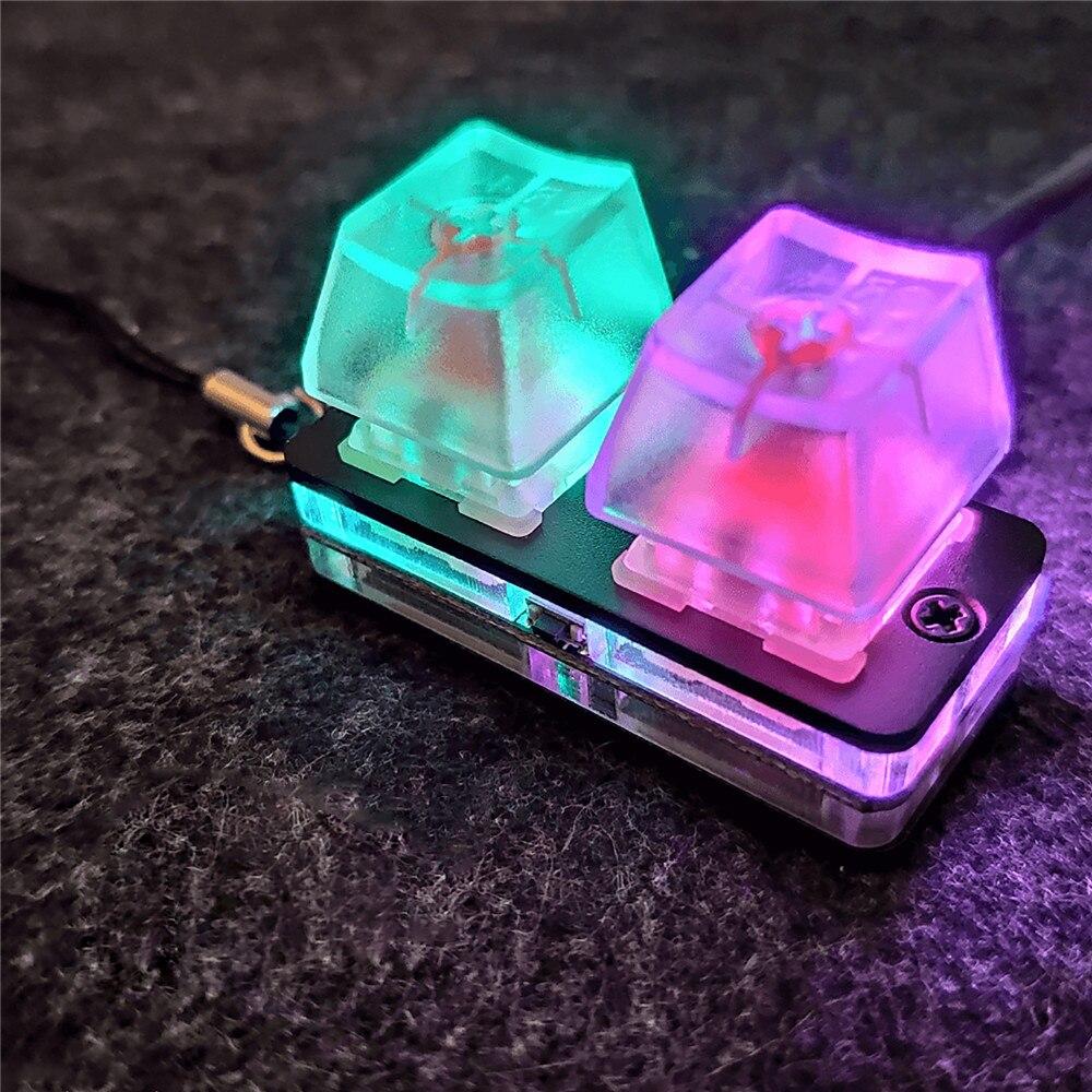 Mini Gaming Mechanical Keyboard Music Game Touch Wheel Axle Tester Gaming Keyboard With Keychain for SimPad Nano OSU
