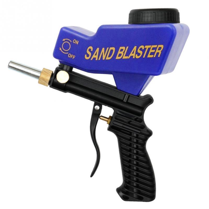 Portable Anti Rust Protection Sand Gravity Sandblasting Gun  DIY Pneumatic Sandblasting Set Sand Blasting Machine
