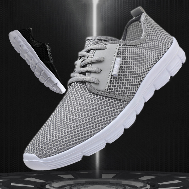 2020 Men's Summer New  Casual Shoes Woman Lightweight Large Size Outdoor Sports  Shoes Beach Shoes Couple  Mesh 48 Yards 47 Gray