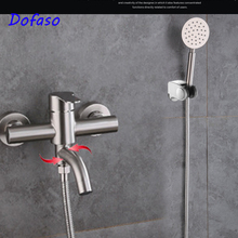 Faucet Bathtub Shower Mixer Dofaso Basin with Handle Outlet Stainless-Steel Tap304