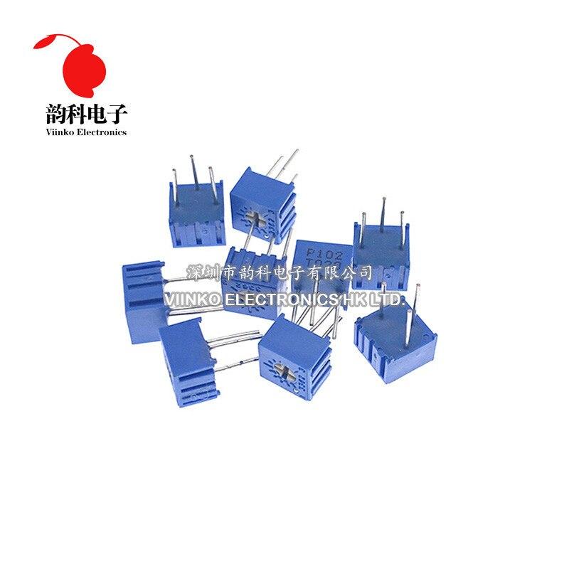 10 PIÈCES 3362P-1-101LF 3362 P 100 ohm 3362P-1-101 3362P-101 3362 P101 101 Trimpot Potentiomètre Réglable Résistance Variable