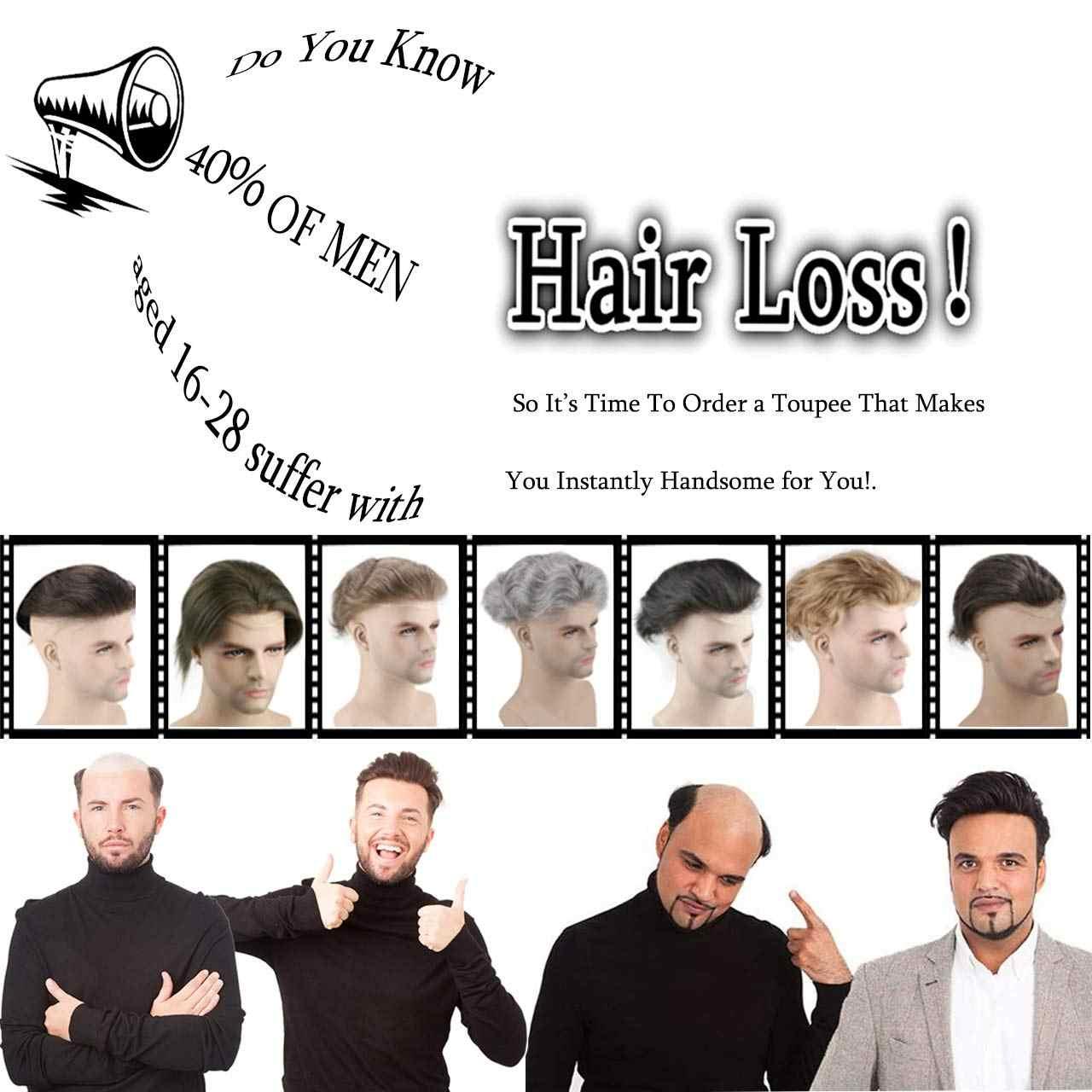 Eseewigs Menschenhaar Männer Toupet Natürliche Schwarze Farbe Gerade Europäischen Remy Haar Schweizer Spitze Front Toupet Haut Dünne PU Hand maß