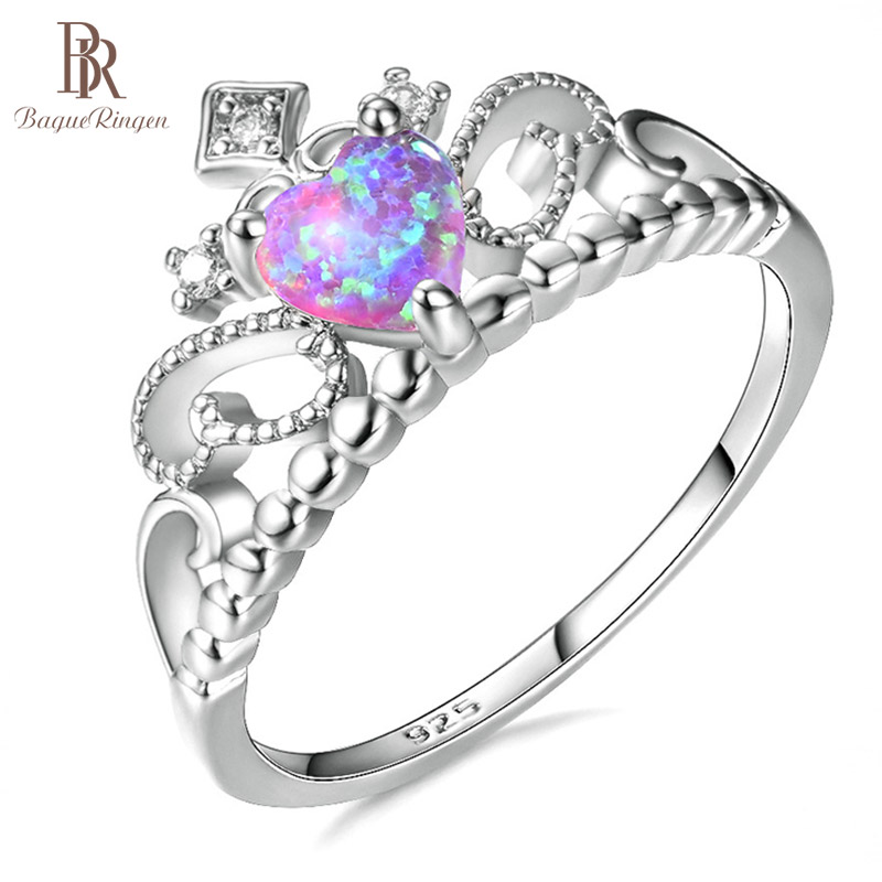 Bague Ringen Silver 925 Jewelry New Hot-selling Rings Of Women Opel Crown Weddings Birthday Celebration Commemorative Gift