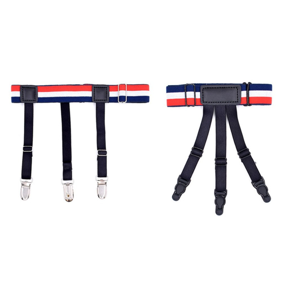 Men Women Shirt Stays Holder Elastic Leg Girdle Gothic Shirt Thigh Ring Comfortable Suspenders Shirt Garters