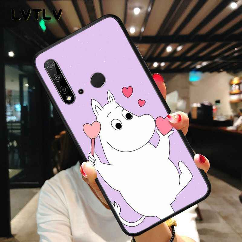 Lvtlv dos desenhos animados bonito moomin hipopótamo caso do telefone para huawei p20 p30 pro p20lite p30lite p inteligente p10 p9 lite